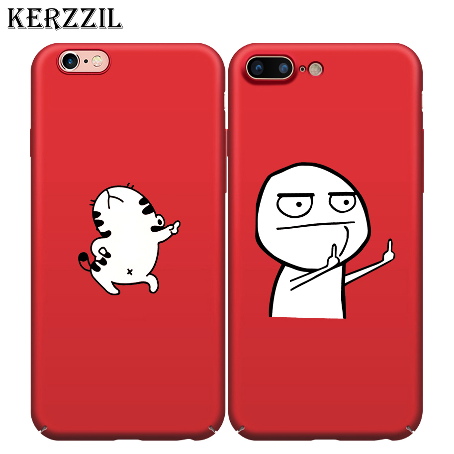 kerzzil funny cartoon animal phone case for iphone x 10 finger hard