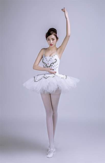 c5b5a2389 € 33.43 8% de DESCUENTO Nueva Mujer Cisne lago Ballet dancewear blanco  adulto profesional Ballet Tutus trajes clásico Ballet Tutu vestido en  Ballet ...