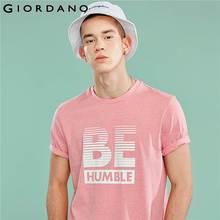 Giordano Men Tshirt Men Printed Letters Pattern Round Neck Fashion Tshirt Men Comfortable Stylish Summer Camiseta Hombre