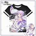 Anime Re: Life in a Different World from Zero T-shirt Emilia Polyester T Shirt Summer Active Fashion Men Women Clothing