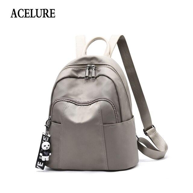 e93b4e1a5189 ACELURE Women PU Leather Backpack Softback Bag Fashion Brand Bag Simple  Style School Bag Casual Pendant Decor Teenager Backpack
