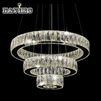 Hot Sale 1 Ring 2 Ring 3Rings LED K9 Crystal Chandelier Light Lamp Lustres De Cristal