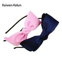 Girls Cute Grosgrain Hairband Ribbon Double Big Bows Hair Band Elegant Hair Bands for Women Headwear Haar Accessorie