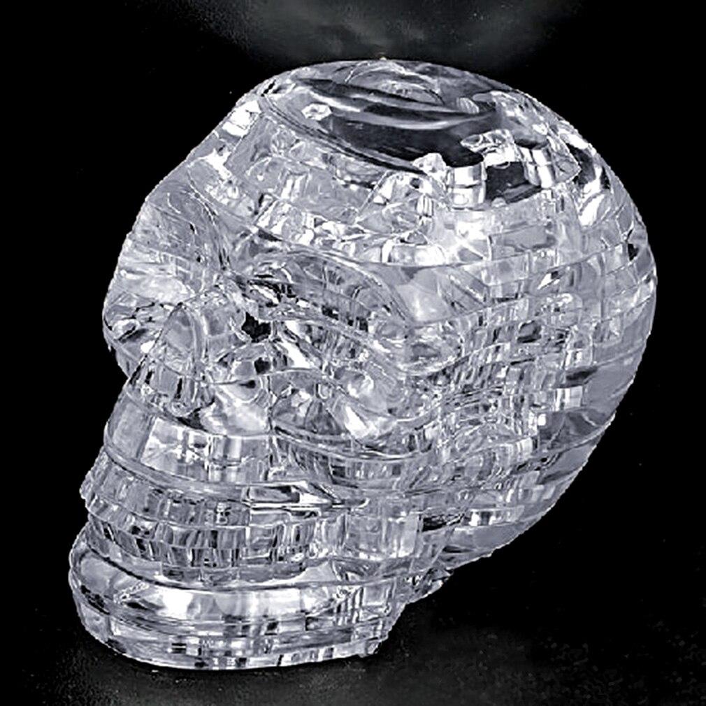 Nouveau Puzzle 3D en cristal bricolage modèle d'assemblage de Puzzle cadeau squelette de crâne de jouet