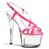 Sexy super sexy summer sandals heels women shoes stripper crystal shoes 17cm
