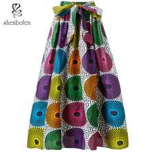 Shenbolen african clothes gonne africane women long skirt traditional clothing ankara Print Plus Size