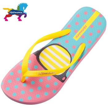 Hotmarzz Women Fashion Flip Flops Beach Slippers Summer House Shoes Woman Flat Sandals Glasses Print Female Home Slippers 2
