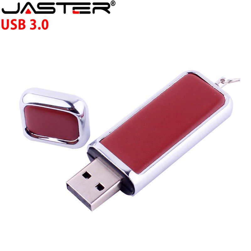 JASTER USB LOGOTIPO do cliente 3.0 unidade flash usb de couro Com chapéu fivela chaveiro pele 8gb 32gb comercial memory stick 4gb 16gb