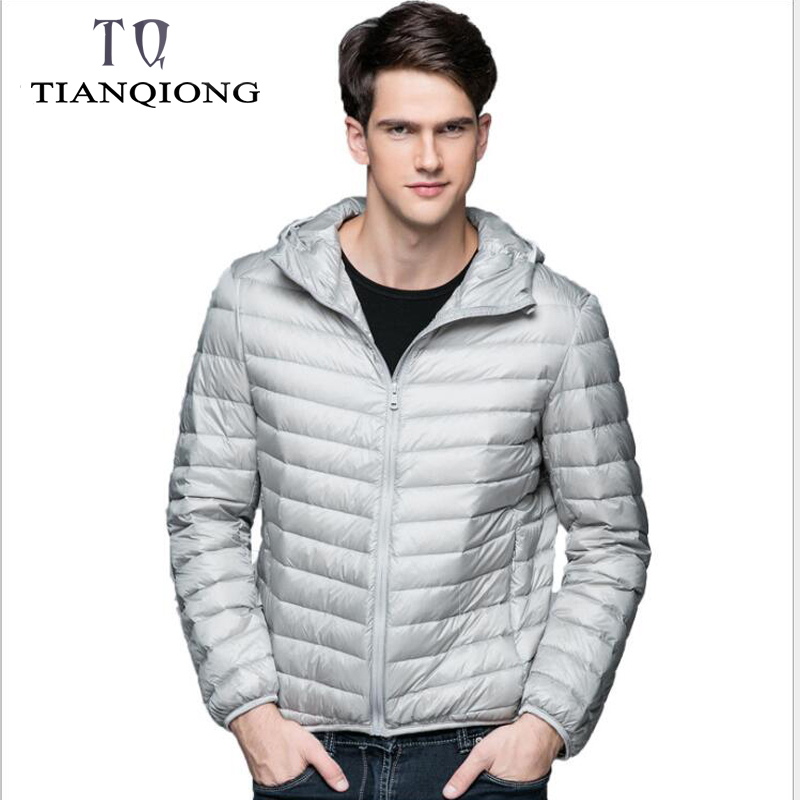 TIAN QIONG 2018   Down   Jacket Men Winter Portability Warm 90% White Duck   Down   Hooded Man   Coat   Jaqueta Masculino Chaqueta Hombre
