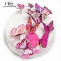 Envío gratis 12 unids pvc butterfly wedding cake topper/de la boda/decoración de la boda/suministros de decoración de pasteles