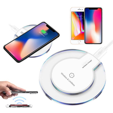 Qi Wireless Charger for iPhone X 8 Plus Mobile Phone Fast 5V 1A Charging Adapter Dock For Samsung S8 S7 S6 Edge