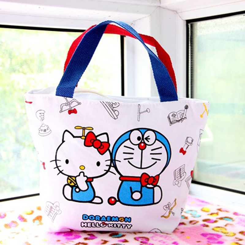 Hello Kitty Women Handbag Classic Cartoon Canvas Shopping Bags Pattern  Personalized Crossbody Bags For Women Clutch Bag-in Top-Handle Bags from  Luggage ... a4d9cd14e479f