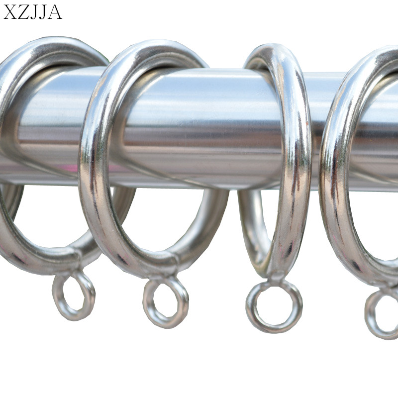 "10pcs Stainless Steel Hook Metal 1.2/"" Rings Clips W// Eyelets For Window Curtain"