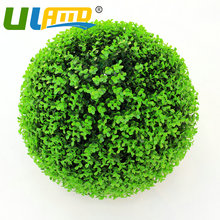ULAND 28CM Artificial Plastic Grass Kissing Ball Topiary Buxus Boxwood Ball Outdoor Indoor Decoration Garden Wedding Decorations