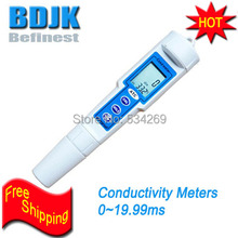 0~19.99ms/cm Digital Waterproof Conductivity Meter/ with Temp. Display Free Shipping