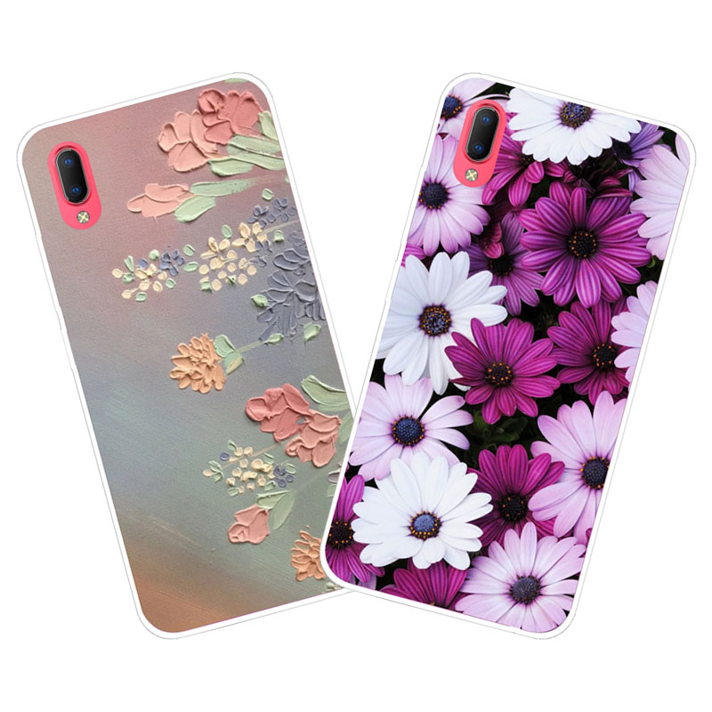 Vivo Y93S Y93 Case,Silicon Colorful flowers Painting Soft TPU Back Cover for Vivo Y93S Y93 Phone protect cases shell