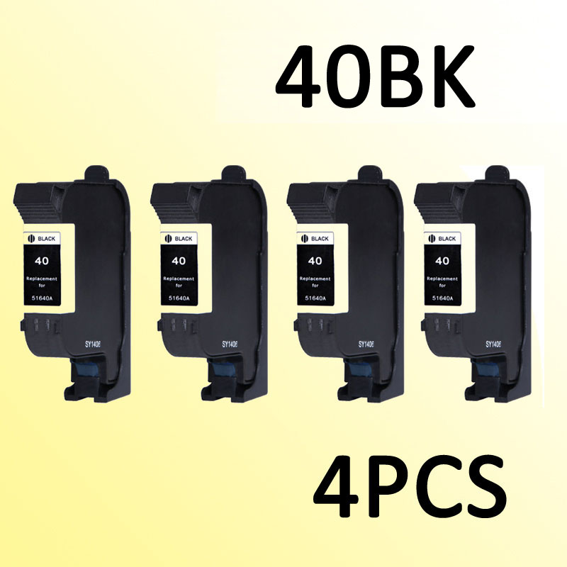 4pcs 51640A <font><b>ink</b></font> <font><b>cartridge</b></font> compatible for40 for <font><b>40</b></font> D2680 F4240 F4280 F4440 F4480 F4435 D5560 F4580 All-in-One Printer image
