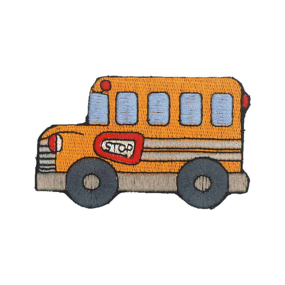 SCHOOL <font><b>BUS</b></font> iron on hook backing funny punk rock embroidered biker motorcycle <font><b>patches</b></font> for vest image