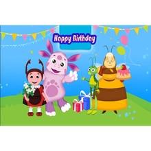 Vinyl photography backdrops Happy Birthday Photo Background cartoon 5x7ft studio props fotografia