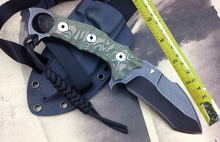 Unique Blade Hunting Knife Fixed Blade Survival Knives G10 Handle Tactical Outdoor Knife Fixed Blade 1011-1@