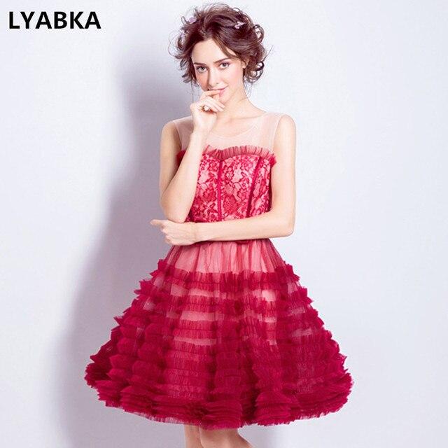 b5db54552 Vestidos De baile Vestidos De Gala Vestidos cortos 2019 nuevo estilo cuello  redondo vestido De baile