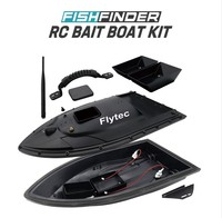 Flytec 5 Generation RC Boat body for Remote double warehouse Fish Finder Electric Fishing Bait Double Motor Toy parts