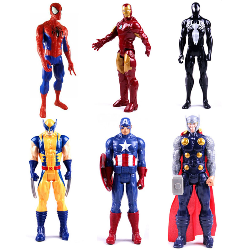 6pcs/set 10cm super hero the Avengers Figures PVC model Toys Spider ...