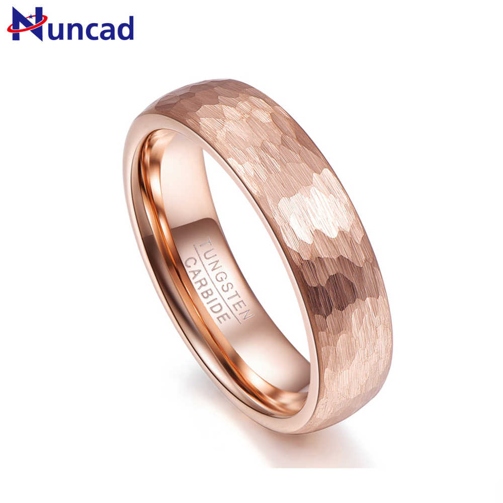fcb31718094 Nuncad never fade 6MM wide rose gold tungsten steel ring Man s Band comfort  fit size 5