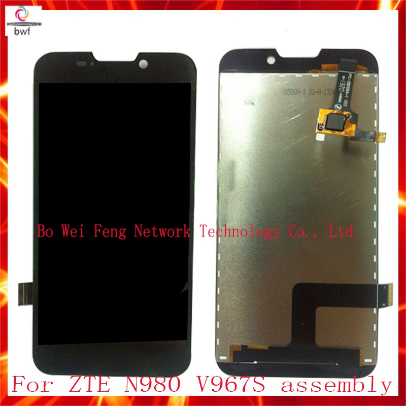 10Pcs DHL EMS High Quality For ZTE N980 V967S LCD Display+Touch Screen Digitizer Assembly 100% Tested with glue Free Shipping 10pcs dhl high quality for hp 10 n 10 n