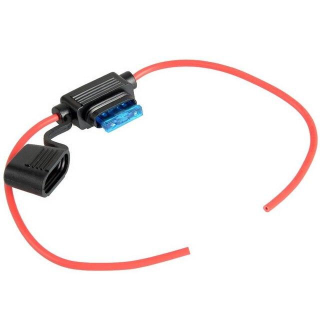 1pcs in line car mini blade fuse holder waterproof 16awg 15a 12v 24v 32v dc ve106 fuses. Black Bedroom Furniture Sets. Home Design Ideas