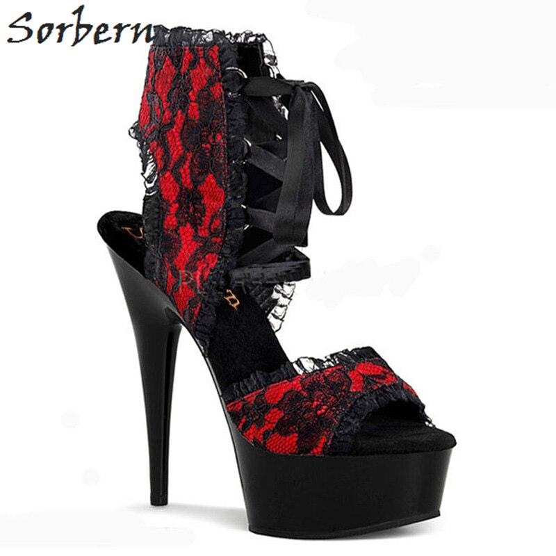 rojo Sandaletten leopard Plataforma 15 Sorbern Mujer De Zapato Tacones Color Las Custom Cm Sandalias Mujeres Sandalia rosado Zapatos 2018 Altos RH7HUx