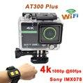 """Câmera de esportes 2.0 """"ultra 4 k 10fps 1080 p Full HD Extrema Câmera AT300 Mais o Esporte Action Camera DV 30 M À Prova D' Água 2.4G RF remoto"""