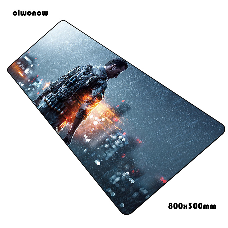 Battlefield Pad Mouse HD Print Computer Gamer Mouse Pad 800x300x2mm Padmouse Fashion Mousepad Ergonomic Gadget Office Desk Mats