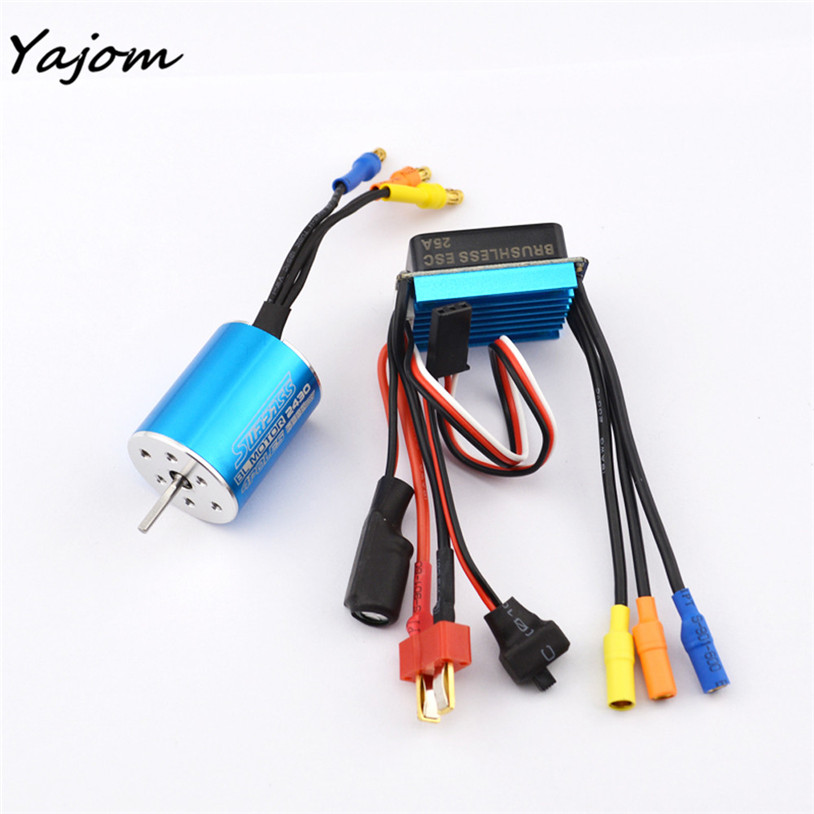 Free For Shipping MOTOR CLASSIC BRUSHLESS SENSORLESS BL 2430 7200KV + Sensorless 25A Brushless ESC Brand New High Quality May 15