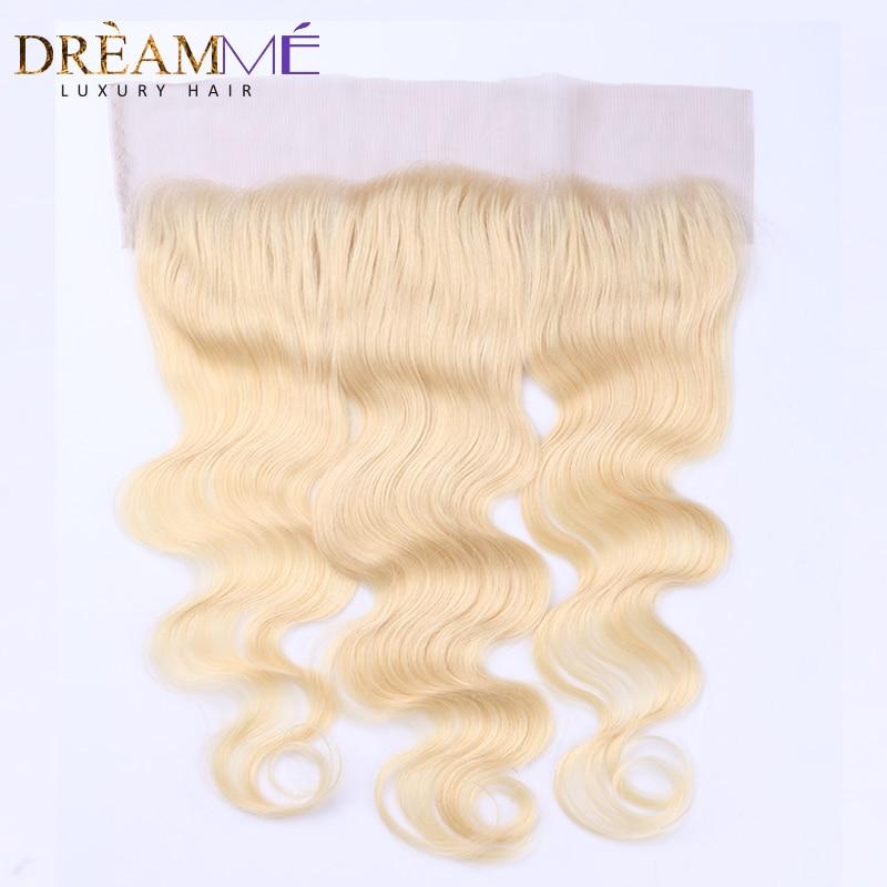 Dreamme Hair # 613 Color Body Wave Lace Frontals sulgemine Brasiilia - Inimeste juuksed (must) - Foto 1