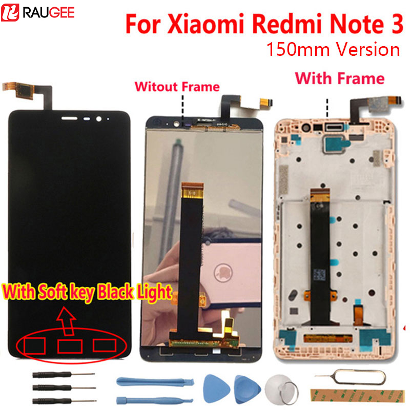 Xiaomi Redmi Note 3 pantalla LCD + pantalla táctil digitalizador Pantalla de cristal para Xiaomi Redmi Note 3 Pro Prime 5,5 ''FHD