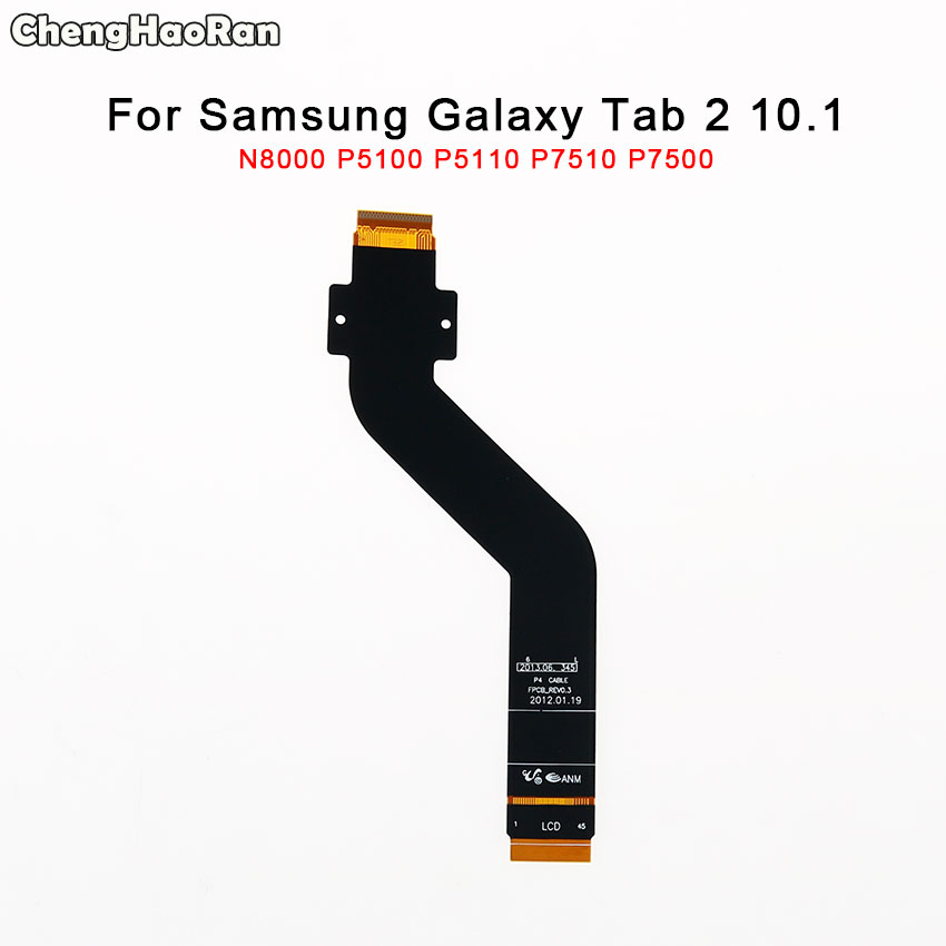 ChengHaoRan For <font><b>Samsung</b></font> Galaxy Tab 2 10.1 N8000 <font><b>P5100</b></font> P5110 P7510 P7500 LCD Display Connector Flex Cable <font><b>Motherboard</b></font> Parts image