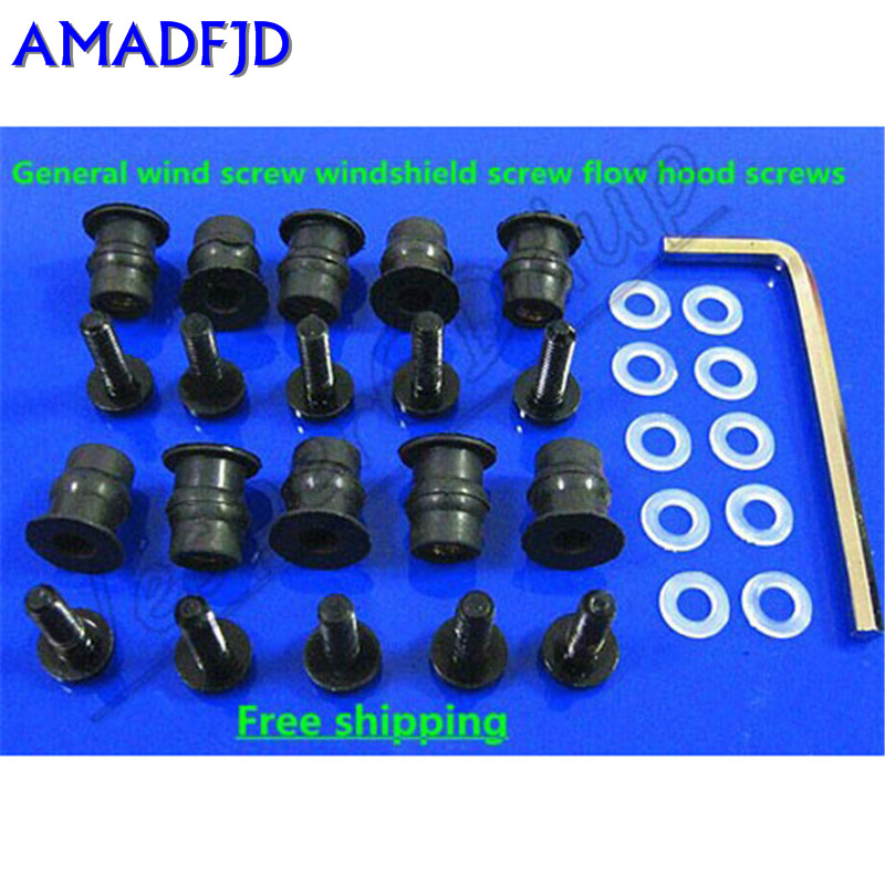 100pcs ForDucatiHondaCBR R1SuzukiKawasaki Motorcycle Windshield Windscreen Fairing BoltKit Screen Screw Kit