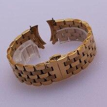 2017 substituição caber muitos relógios cinta watchband extremidade Curva reta final bracelet16mm 18mm 20mm 22mm 24mm banda de Metal da Cor do ouro