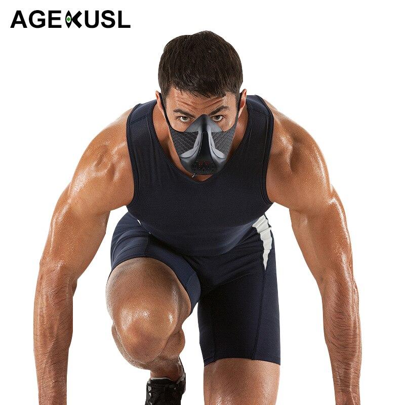 цена на AGEKUSL W Sport Training Mask 3.0 Cycling Face Mask Fitness Workout Gym Exercise Running Bike Bicycle Mask Elevation Cardio Mask