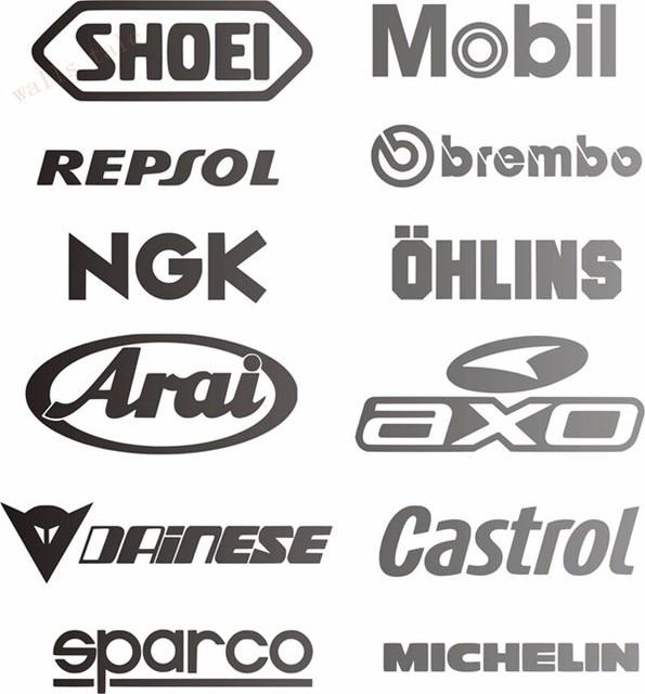 Cool car sponsor decal pack racing sponsors logo sport sticker emblem decal for car