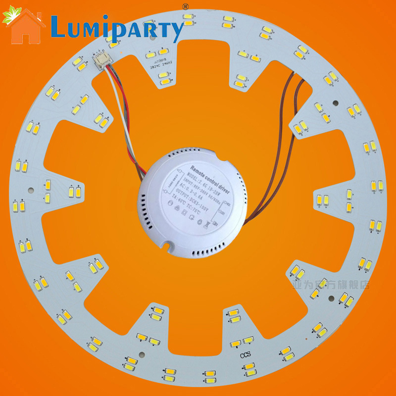 LumiParty 24W 96 LEDs Ceiling Light Ring Panel 5730 SMD LED Round Ceiling Board Circular Lamp Board Aluminum PCB Board