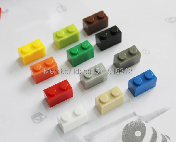 Children Learning Toys Lego Compatible Plastic Building Bricks Blocks Education Toys 1X2* DIY Toys Set 12 Colors 100pcs/lot 2000709 lego education набор с запасными частями машины и механизмы 2