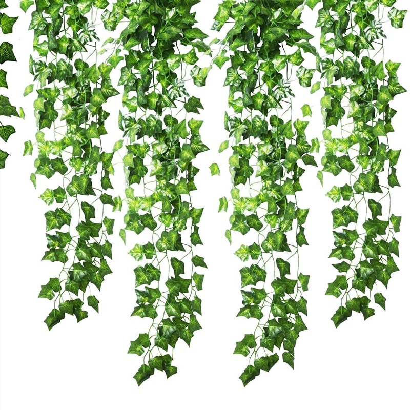 2 pcs 2.5 M  Decorative Flowers & Wreaths Hot Selling Artificial Ivy Leaf Garland Plants Vine Fake Foliage Flowers Home Decor