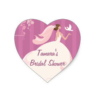 38cm wedding dove bridal shower sticker