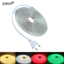 60LED/M 25M SMD 5050 LED Strip 220V 1M 2M 3M 4M 5M 10M 15M 20M Power Plug IP65 Waterproof Lights