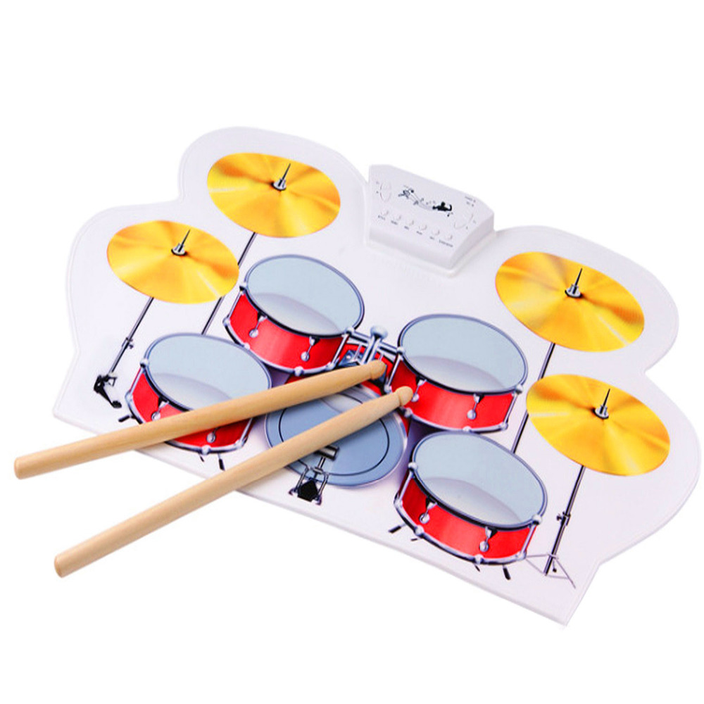 USB MIDI Drum Kit PC Desktop Roll up Electronic Drum Pad Portable with Drumsticks for Kid Gift 9 pad silicon roll up electronic drum with drum sticks and usb cable for midi game percussion instrumenst drum lover