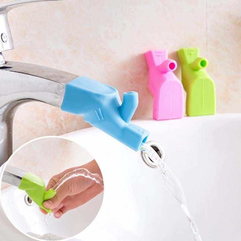 سيليكون صنبور موسع الوليد طفل رضيع بالوعة الحمام غسل اليد حمام الطفل حوض الاستحمام الملحقات