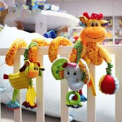 Детские Многофункциональные погремушки с музыкальным рисунком жирафа, подвесная кровать, колокольчик, обучающие игрушки для детей, Новое п...