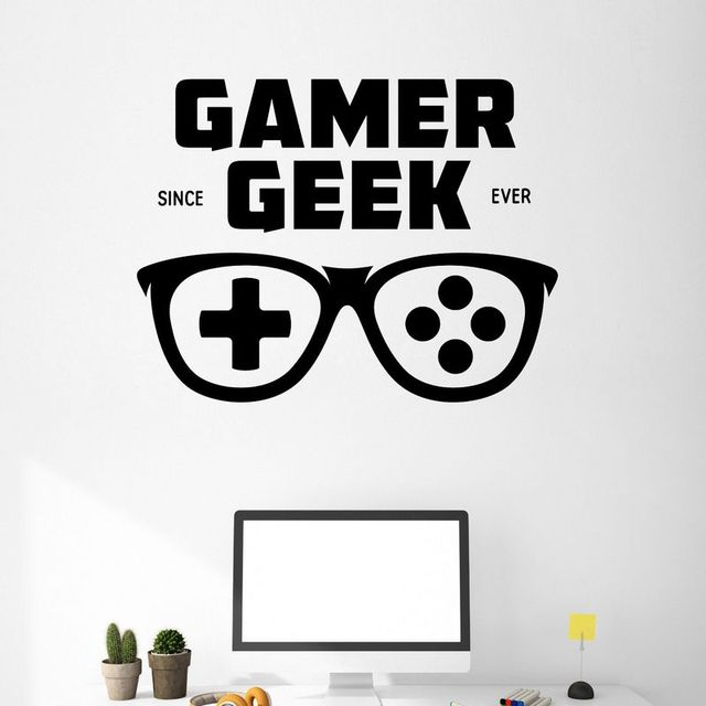 Game Handle Glasses Sticker Gamer Decal Gaming Posters
